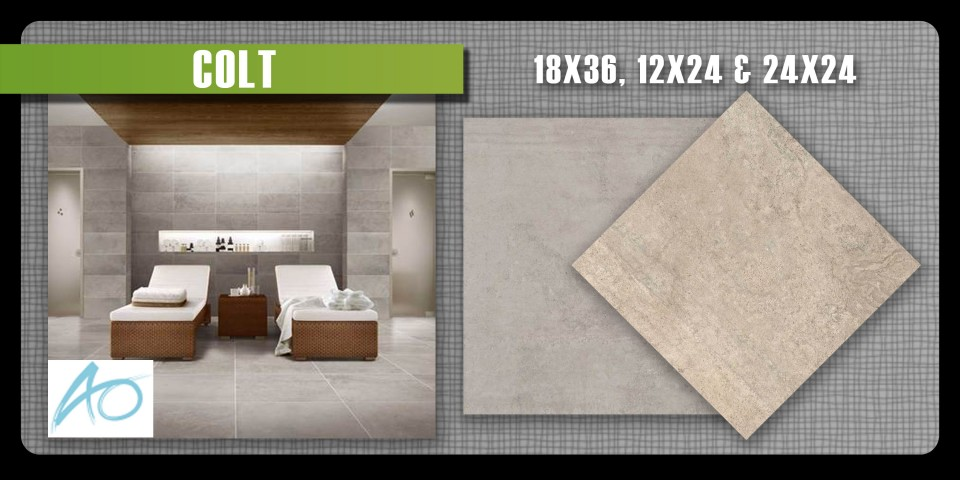 Colt by american olean is a modern porcelain tile with very large size options.