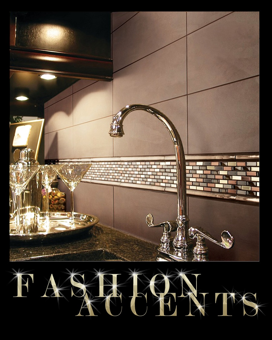 Daltile fashion accents decorative accent tile mosaics metal shimmer nickel copper brick set faucet wet bar backsplash