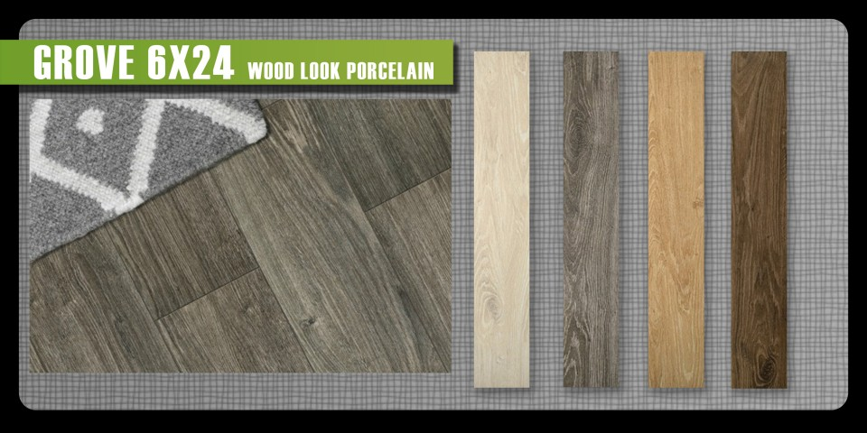 Grove Emser wood look porcelain ceramic tile plank rustic grain 6x24 trending new product
