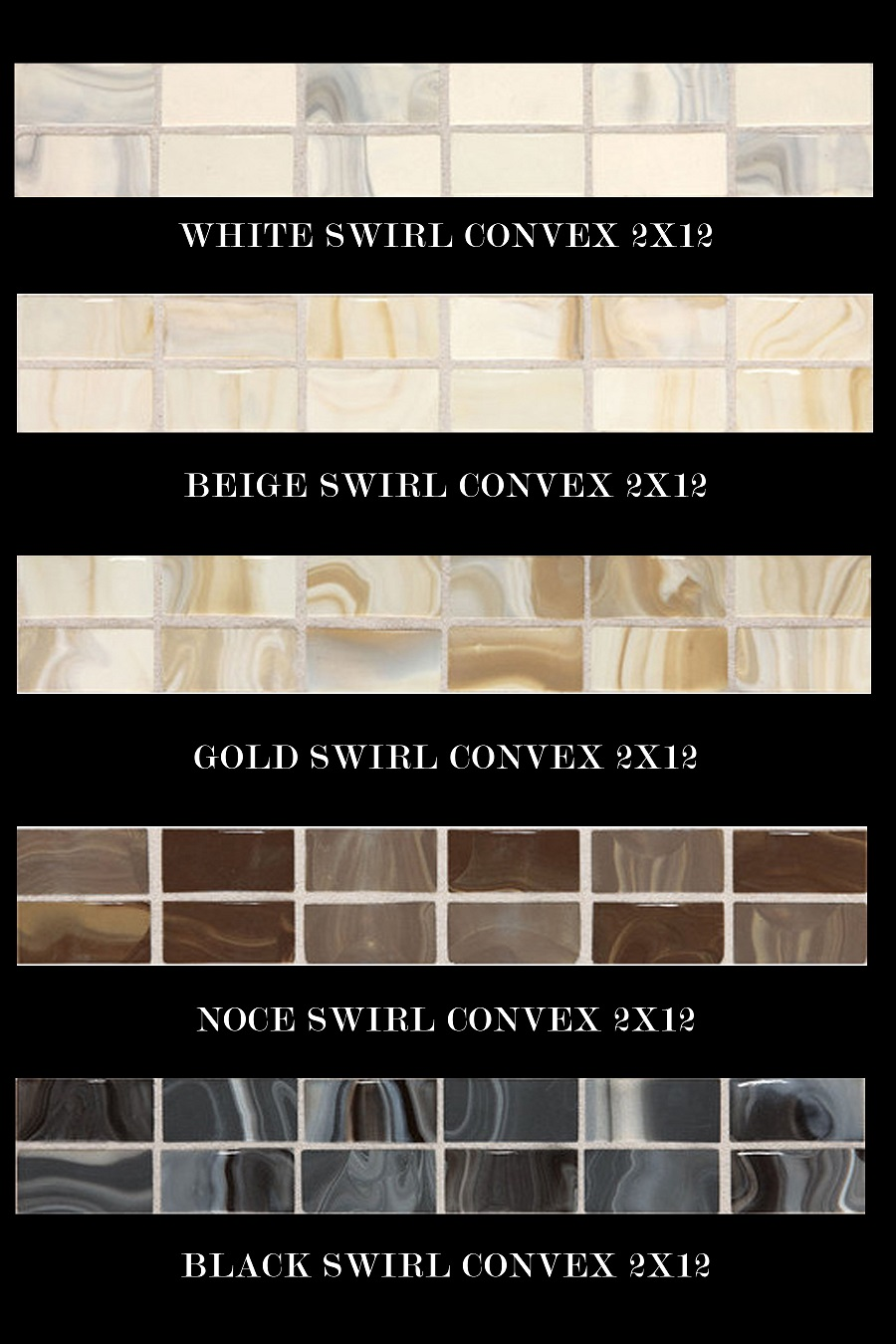 Provincial 2x12 accent strip daltile fashion accents white beige gold noce black marble swirls movement soft