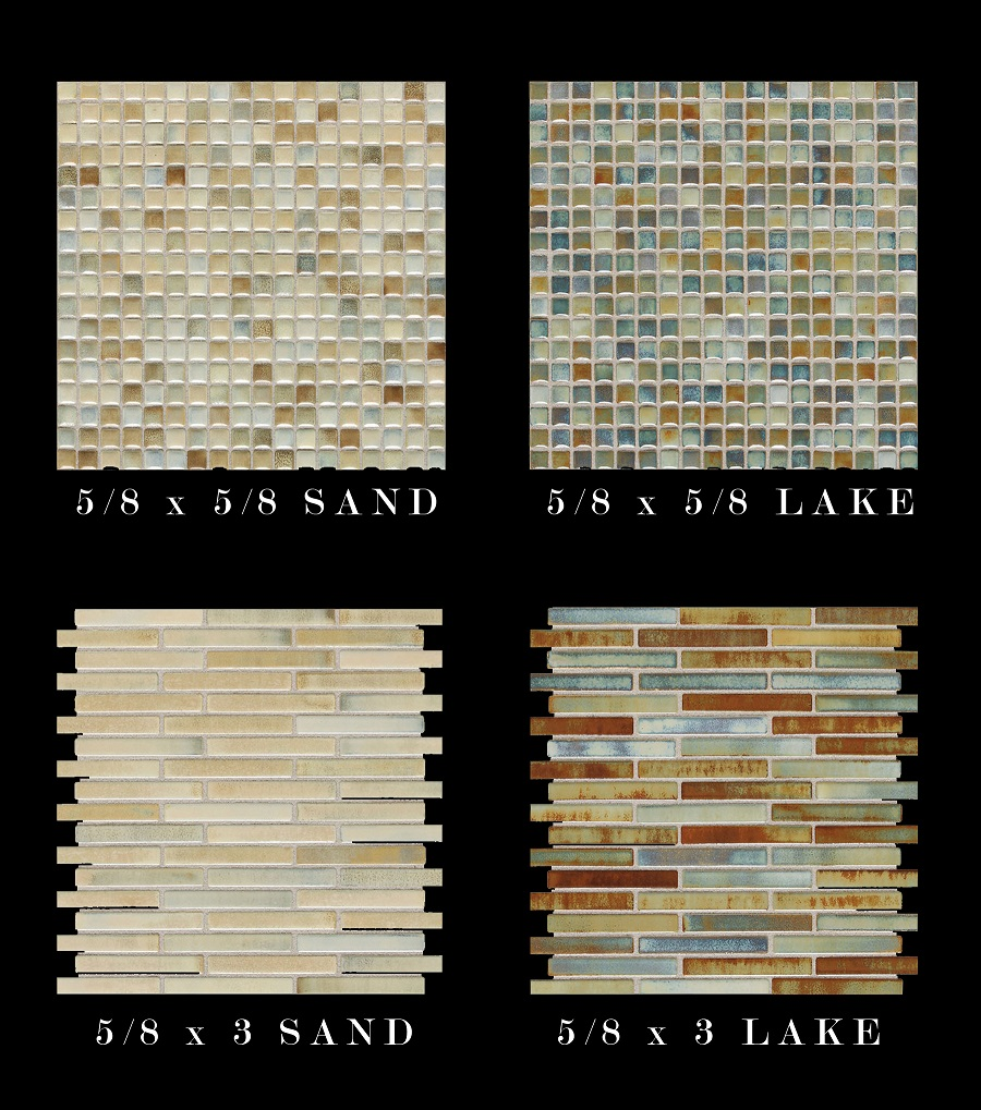 Daltile fashion accents illumini 5x8 mosaic sheet lake sand