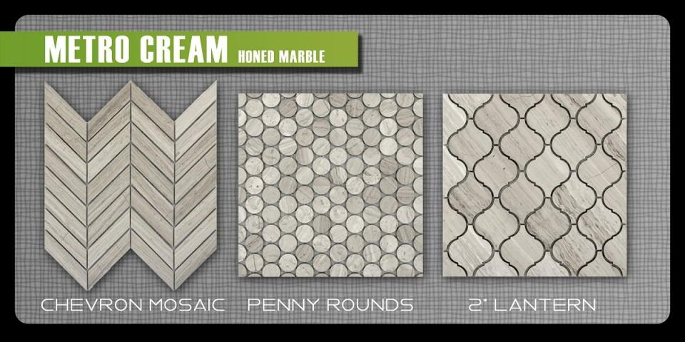Emser honed marble metro mosaics natural stone grey taupe mosaics lantern penny round chevron sheet