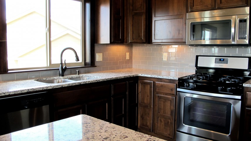 Kitchen Backsplash And Master Bathroom Using Porcelain And