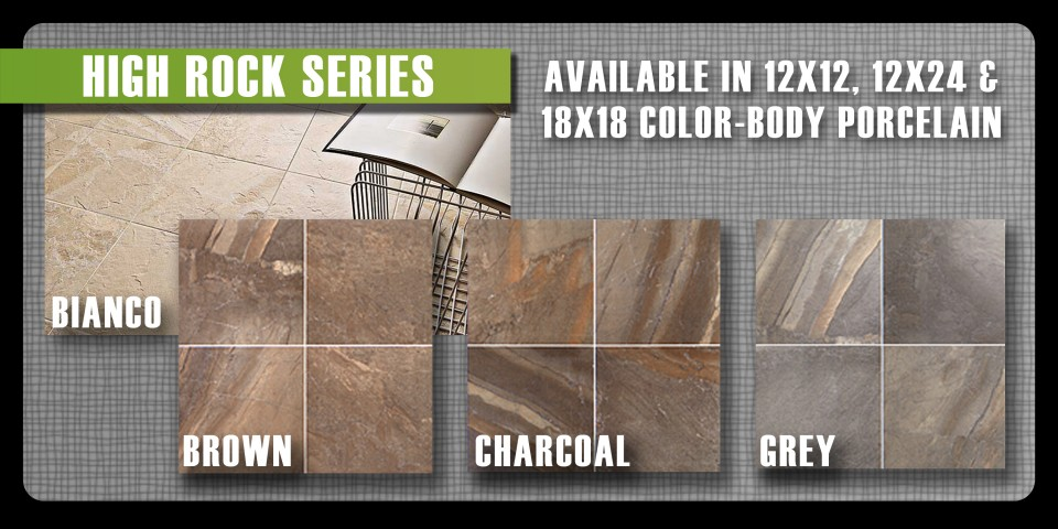 High Rock porcelain tile by Thompson Tile & Stone Olympia Tile