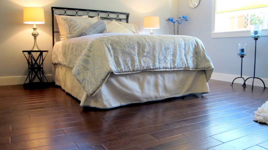 "Anderson Hardwood Shaw Industries 5"" handscraped forged bronze engineered flooring"