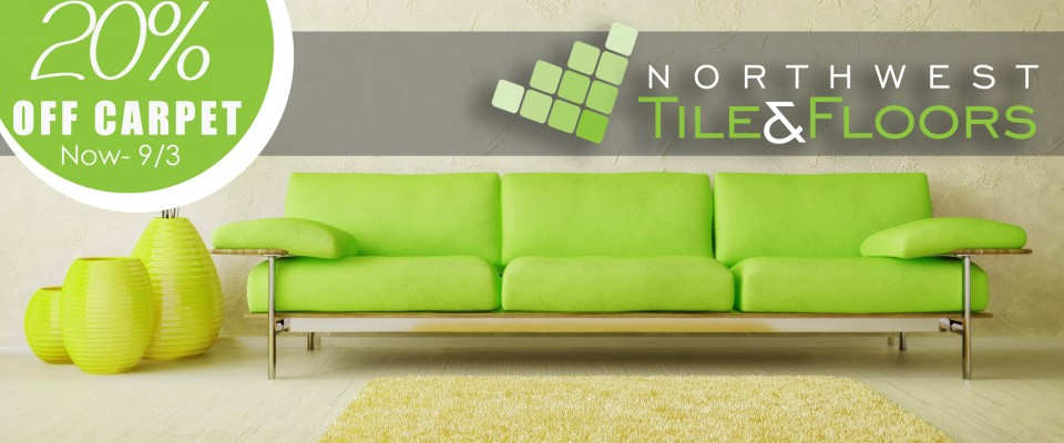 20% off carpet when you purchase now through September 3rd.
