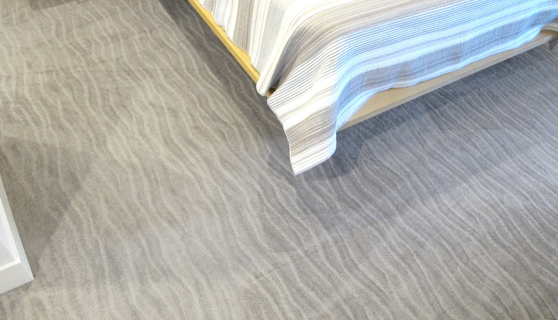 Surfs Up Simply Taupe Tuftex Carpet Shaw wave pattern gray water