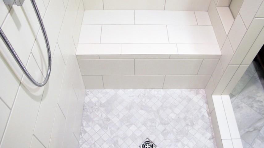 Shower drain for tile floor